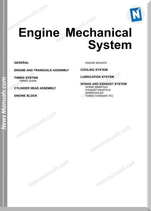 Hyundai Veracruz Engine Mecanical System Shop Manual