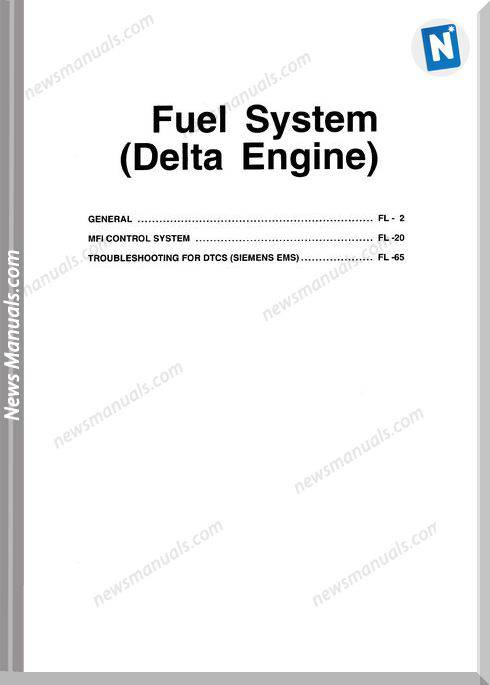 Hyundai Xg350 Models Fuel System Delta Engine Manual