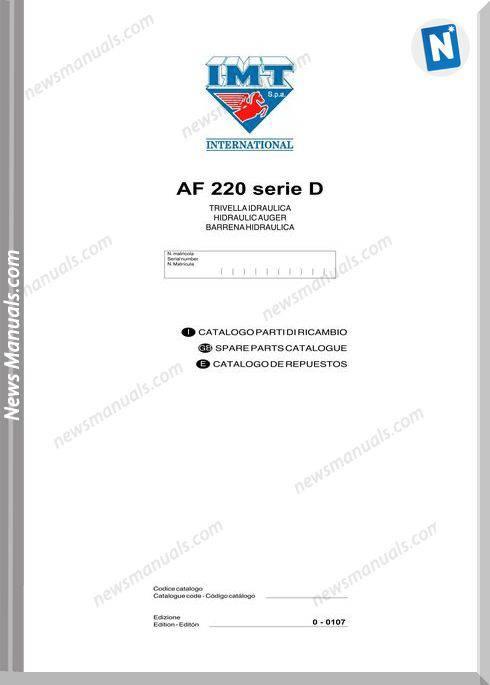 International Af220 Serie D Parts Catalogue