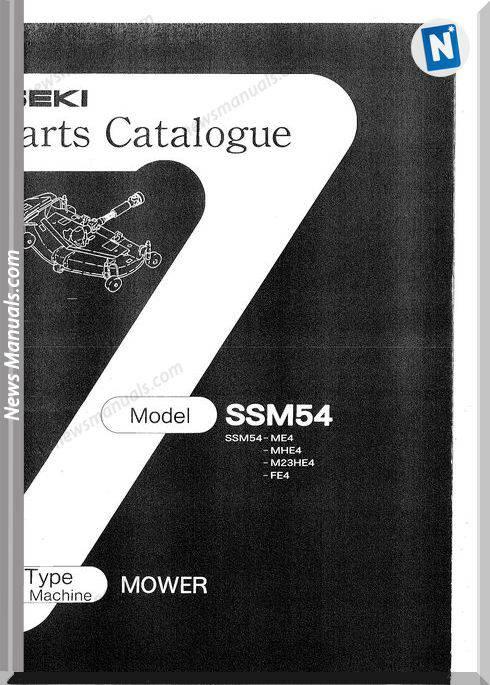 Iseki Model Ssm54 Parts Catalogue Manuals