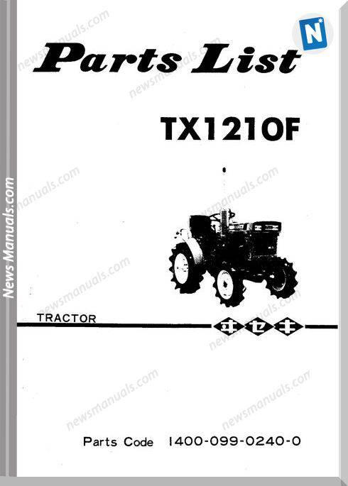 Iseki Model Tx1210 Parts Catalogue Manuals