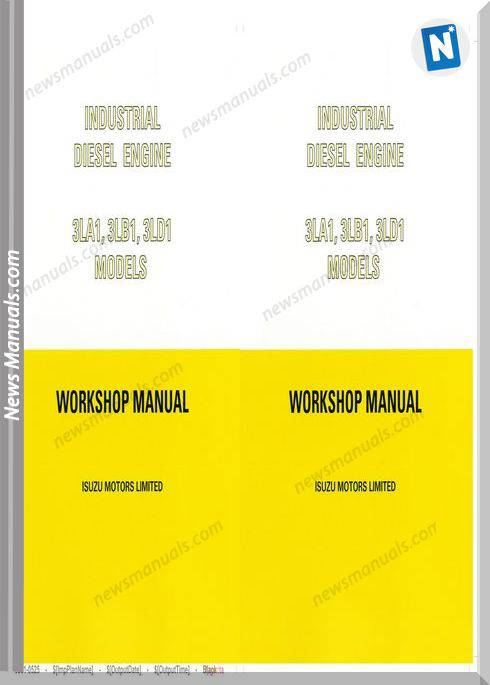 Isuzu 3La1 3Lb1 3Ld1 Workshop Service Manual 1994