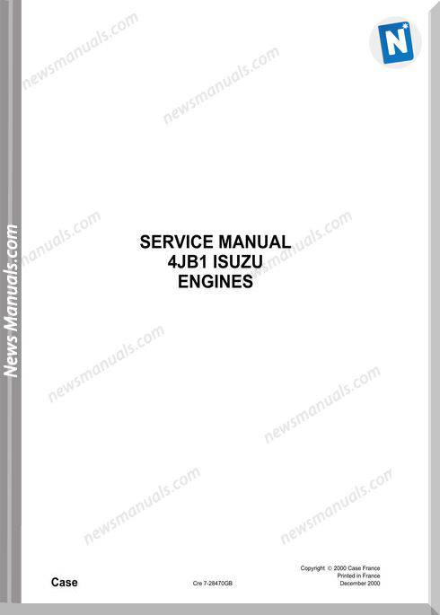 Isuzu 4Jb1 Engine 2010 Service Manual