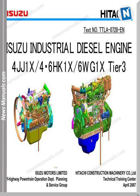 Isuzu 4Jj1X 6Hk1 6Wg1 Engine Tier 3 Traing Manuals