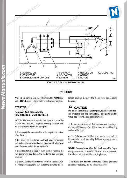 Isuzu C240 2 4l And 4jb1 2 8l Models Wiring Diagram