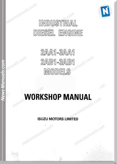 Isuzu Diesel Engine 2Aa1 To 3Ab1Models Workshop Manual