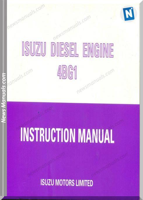 Isuzu Diesel Engine 4Bg1 Instruction Manual