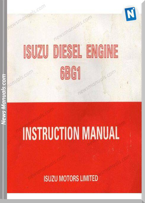 Isuzu Diesel Engine 6Bg1 Models Instruction Manual