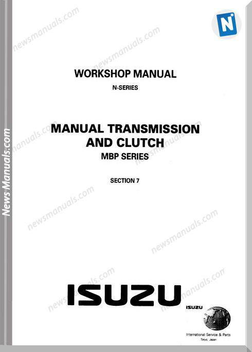 Isuzu N-Series Tranmission And Clutch Workshop Manual
