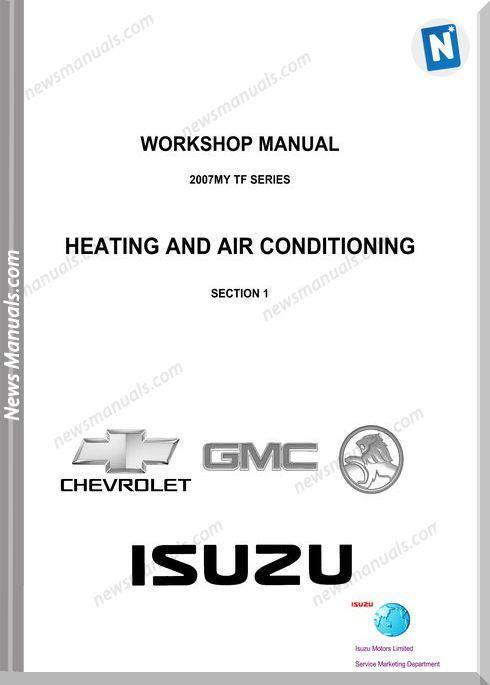 Isuzu Tf Series 2007 Heating And Air Workshop Manual