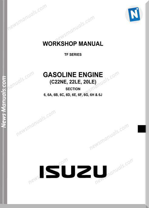 Isuzu Tf Series Gasoline Engine Workshop Manual