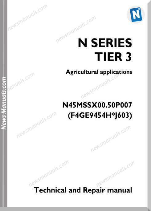 Iveco Agricultural Application N Series Repair Manual