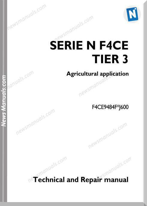 Iveco Agricultural Serie N F4Ce Repair Manual