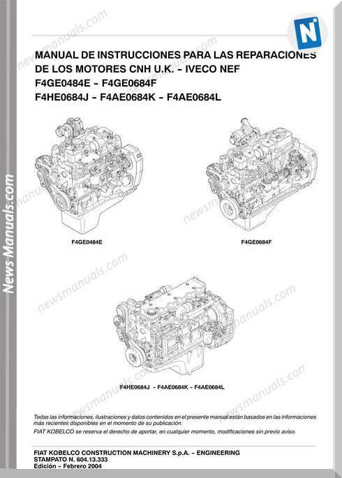 Iveco Engine Nef F4ge0484e F4ge6084f F4a Repair Manual