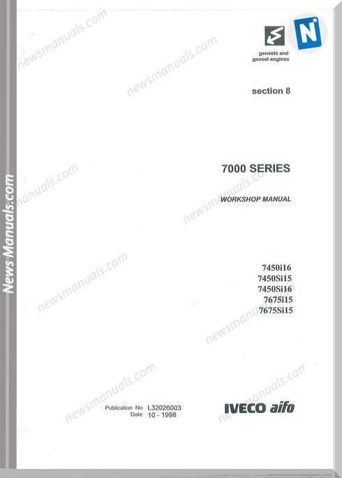 Iveco Genset Engines Series 7000 Workshop Manual