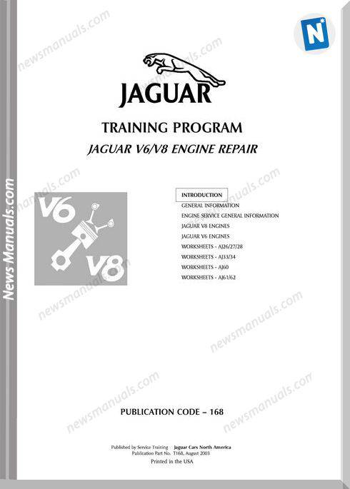 Jaguar V6 V8 Engine Repair 168 Sg