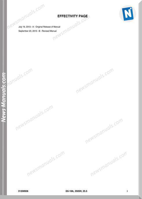 Jlg G5 18a 2505h Telehandler Engine Parts Manual