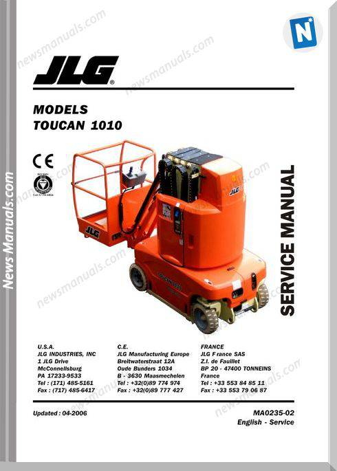 Jlg Toucan 1010 Servicebook