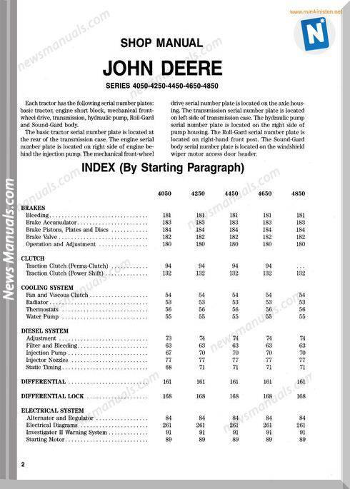 john deere 4450 owners manual
