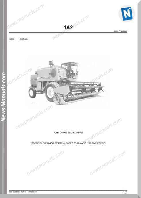John Deere 6622 Parts Catalog