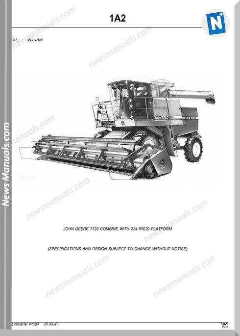 John Deere 7720 Parts Catalog
