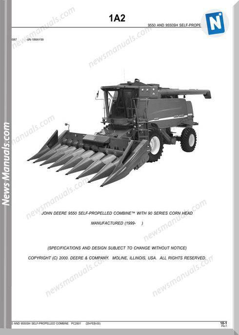 John Deere 9550 Parts Catalog