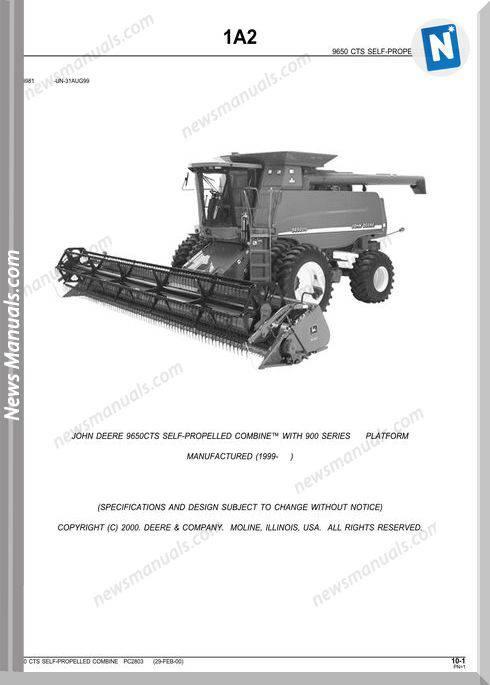 John Deere 9650 Sts Parts Catalog