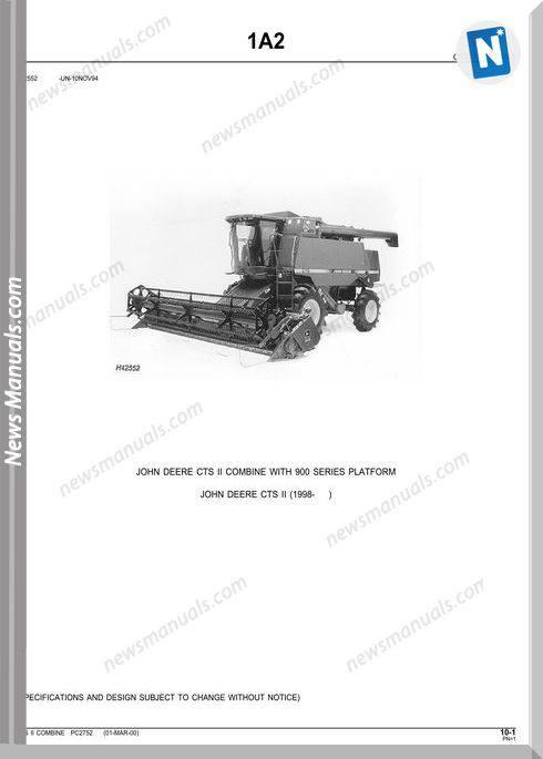 John Deere Cts Ii Parts Catalog