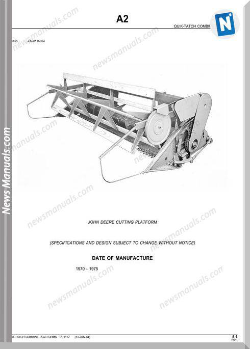John Deere Cutting Platform Parts Catalog
