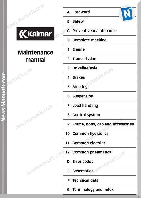 Kalmar Drf 400 450 Maintenance Manual