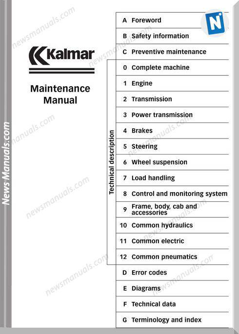 Kalmar Drf 400-450 Maintenance Manual
