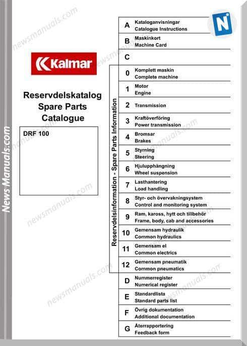 Kalmar Drf100 Parts Catalog