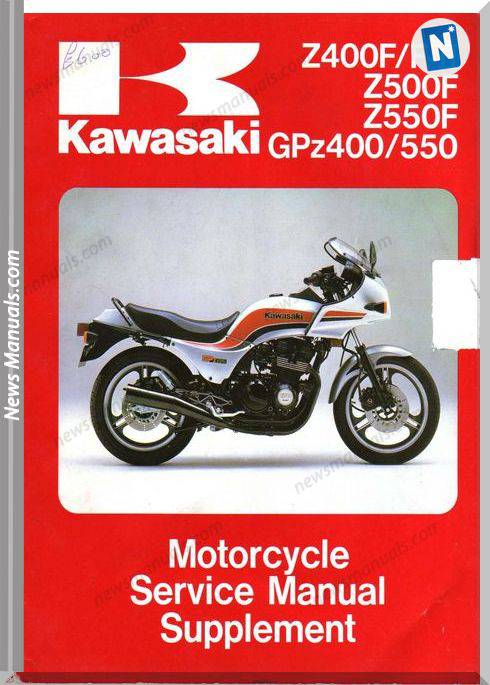 Kawasaki Gpz 400 550 Z 400 F Fii Z 500 550 F 83 A 85 Service Manual