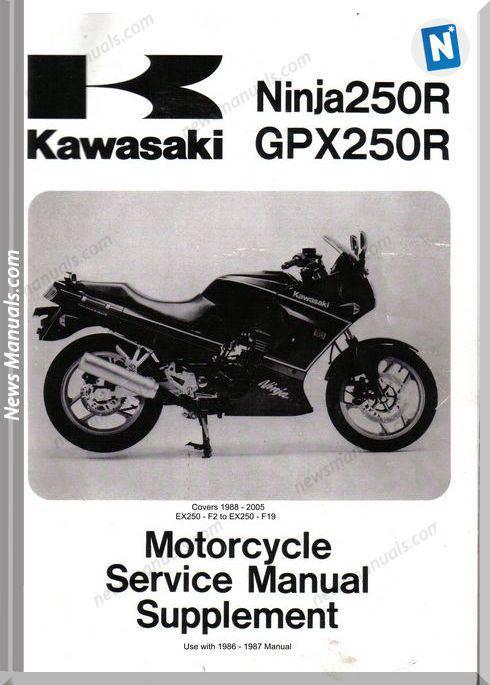 Kawasaki Ninja Gpx250R 1988 2005 Service Manual