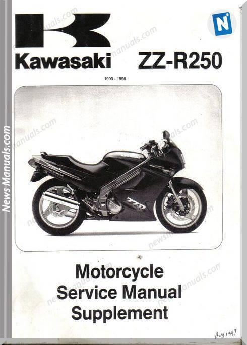 Kawasaki Zzr250 90 96 Supplementary Service Manual