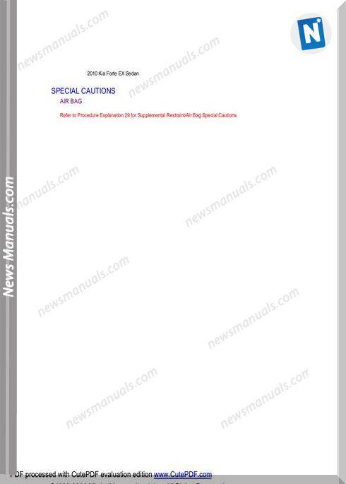 Kia Fort 2010 Parts Manual