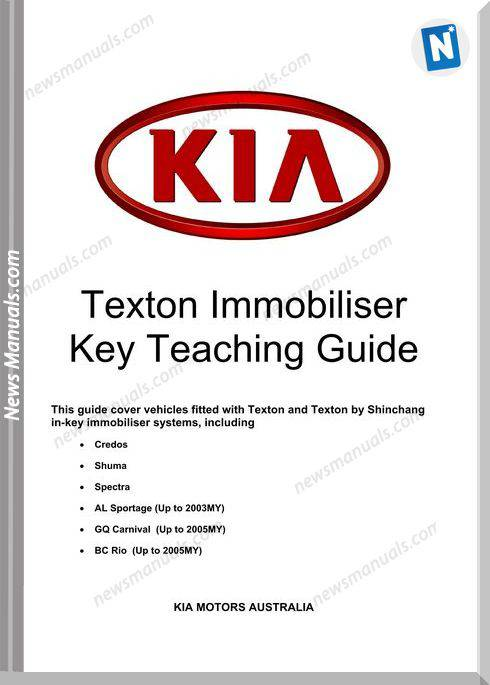 Kia Texton Immobiliser Key Teaching Install Manual