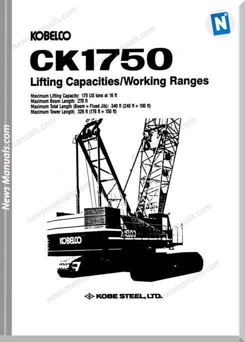 Kobelco Hydraulic Crawler Crane Ck1750