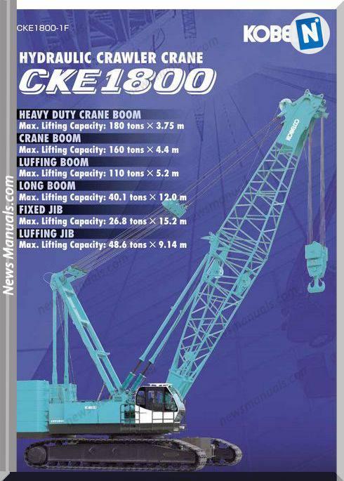 Kobelco Hydraulic Crawler Crane Cke1800 1F Cd1