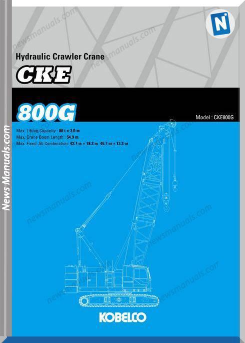Kobelco Hydraulic Crawler Crane Cke800G Specifications