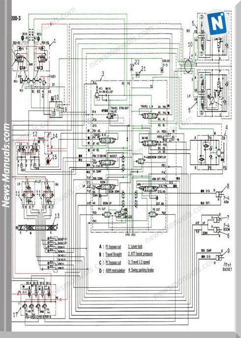 Kobelco Sk200-3 Hydraulic Circuit