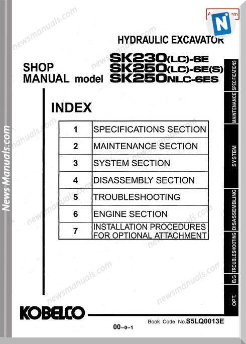 Kobelco Sk230,250 - 6 Shop Manual