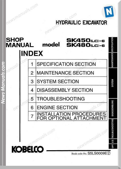 Kobelco Sk450 6 Sk450Lc 6 Sk480 6 Sk480Lc 6 Excavator Workshop Manual