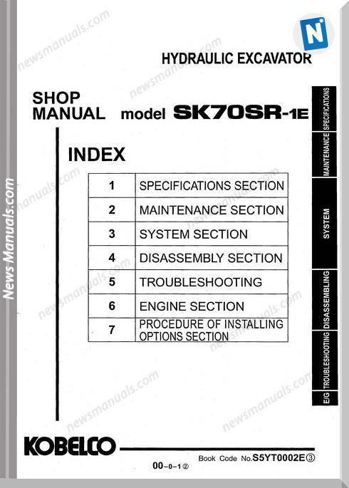 Kobelco Sk70Sr 1E Shop Manual S5Yt0002E