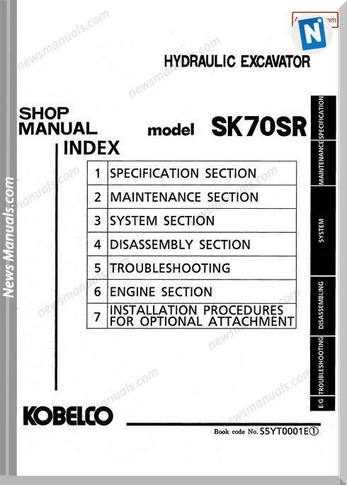 Kobelco Sk70Sr Hydraulic Excavator No S5Y10001E