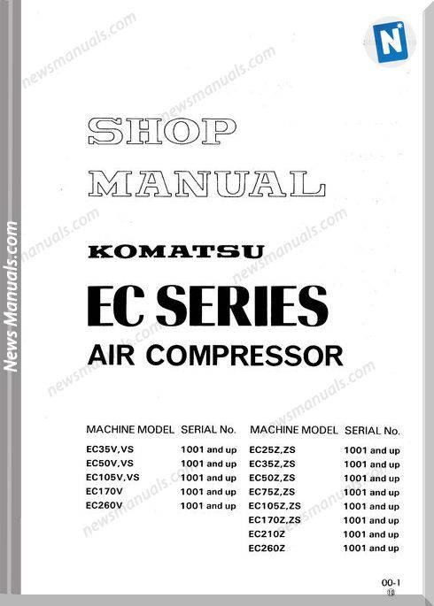 Komatsu Air Compressor Ec105Vs-1 Workshop Manuals