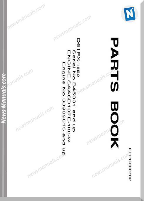 Komatsu D61Px 15E0 Parts Book