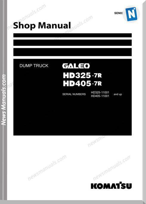 Komatsu Dump Truck Hd325 7R Hd405 7R Shop Manual Sen02373 01