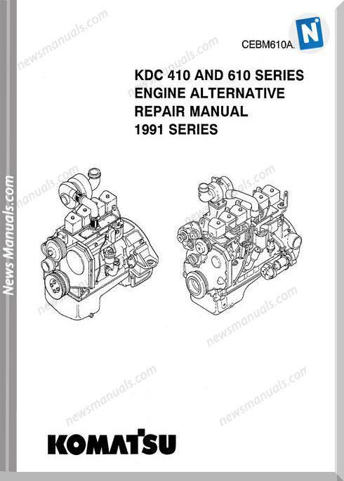 Komatsu Engine 610 Workshop Manuals 1