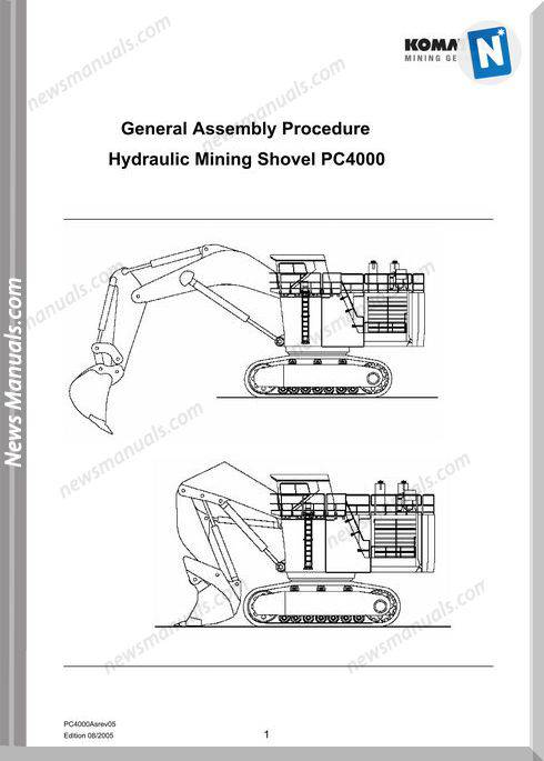 Komatsu General Assembly Procedure Hydraulic Mining Shovel Pc4000